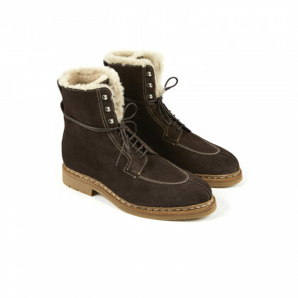TAIGA Coffee Hydrovelours/Sheepskin Hevea