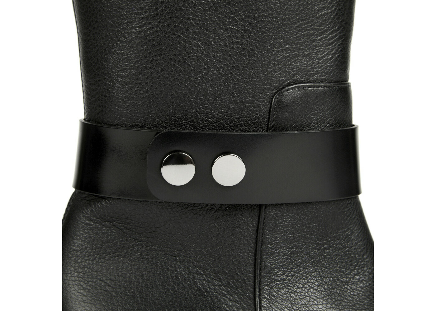 ADELIE Black Volonato Mat Leather P