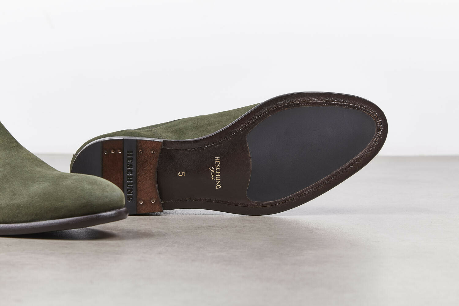 BROOKLIN Cachemire Olive Cuir P
