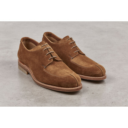 SALVIA Cognac Calf Suede Leather