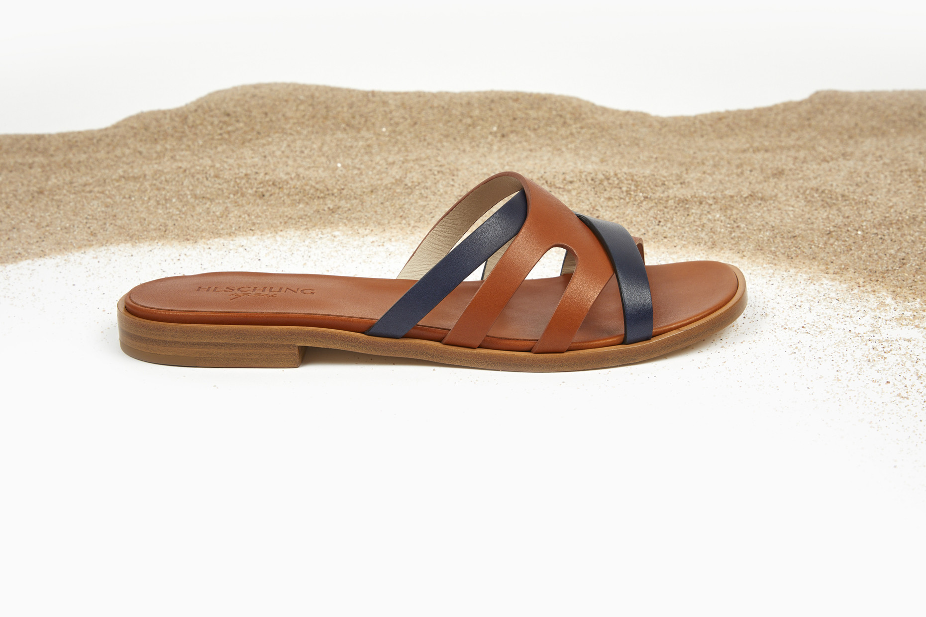 PALMIE Gold/Navy Purecalf Leather