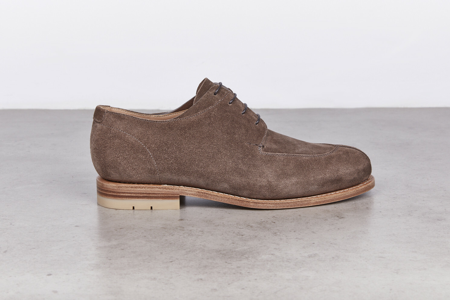 SALVIA Taupe Calf Suede Leather