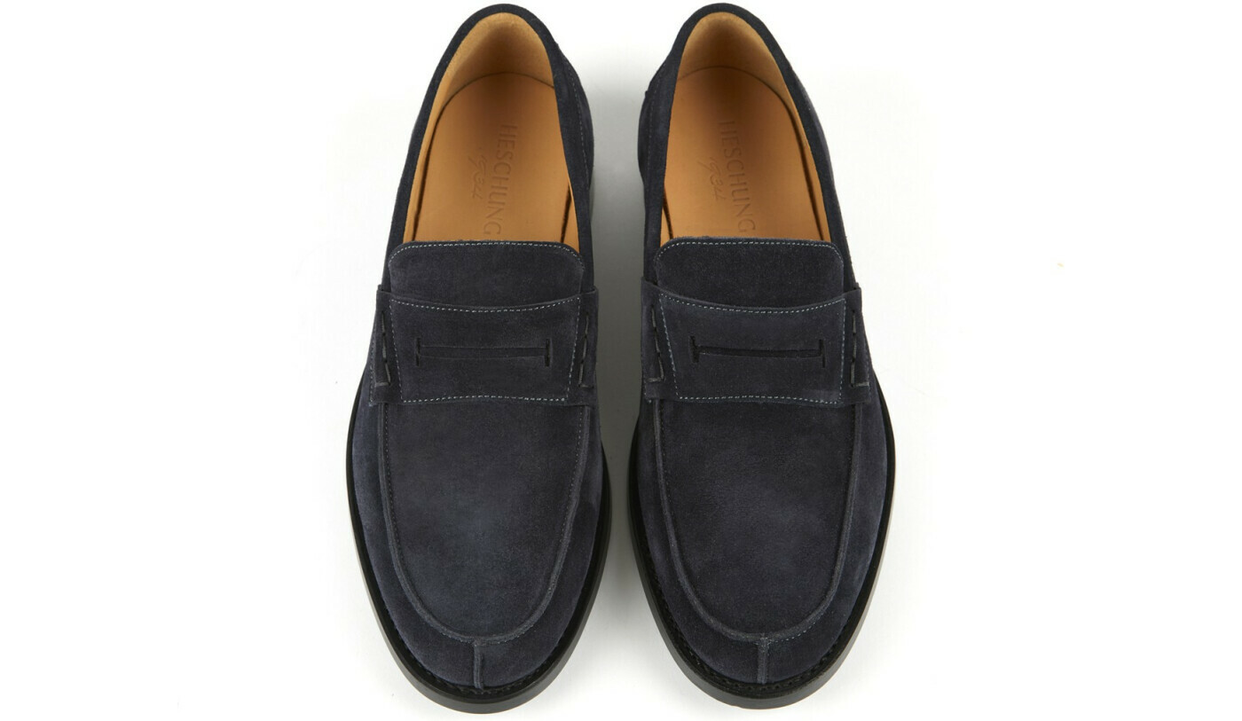 THYM Navy Hydrovelours Cuir