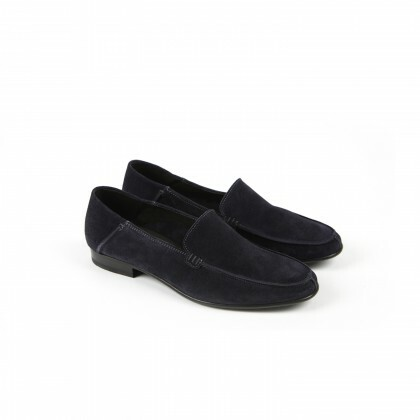 ISCHIA FE Hydrovelours Navy Cuir P