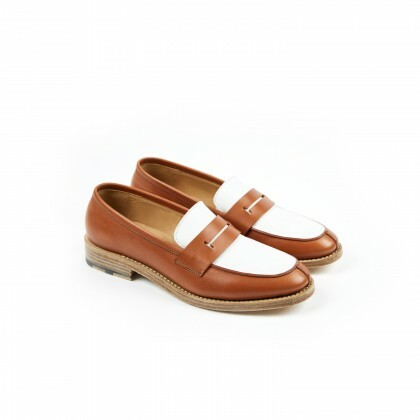 CHESTER Copper/White Naturcalf/Anilcalf Cuir