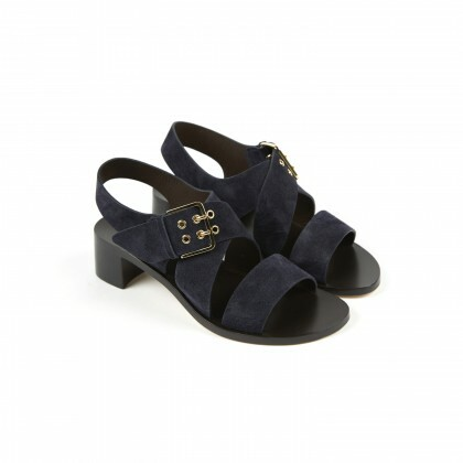 CORYNTHE Hydrovelours Navy Cuir