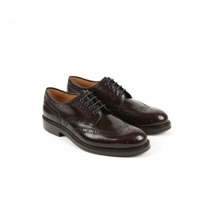 COX Windsor Aubergine Double Cuir