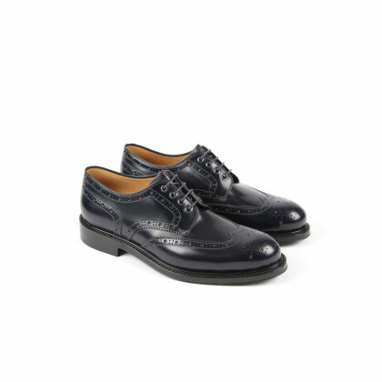 COX Navy Windsor Double Cuir