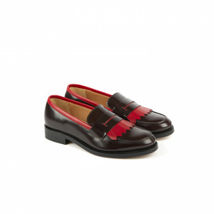 CAMBRIDGE Aubergine/Rouge Windsor/Genova Cuir