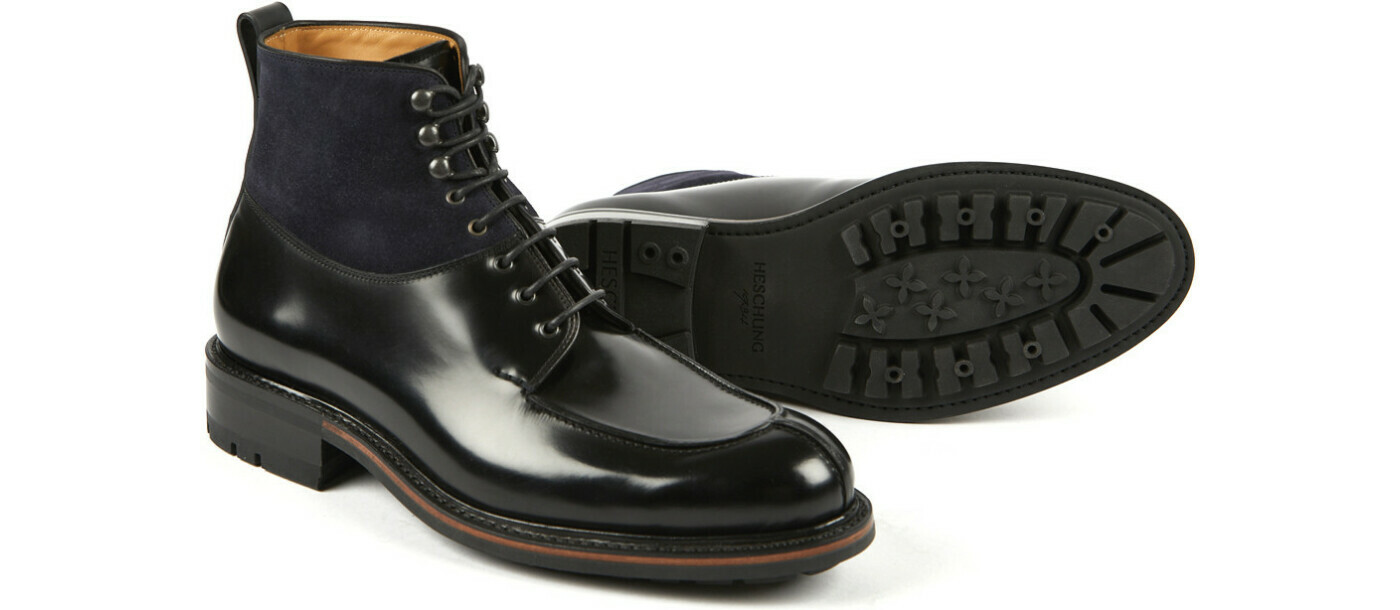 BUIS Windsor/Hydrovelours Schwarz/Navy Commando