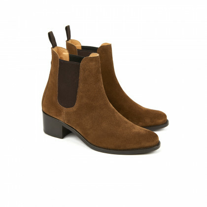 MEGAN Tobacco Hydrovelours Cuir