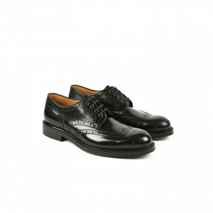 COX Black Windsor Double Cuir