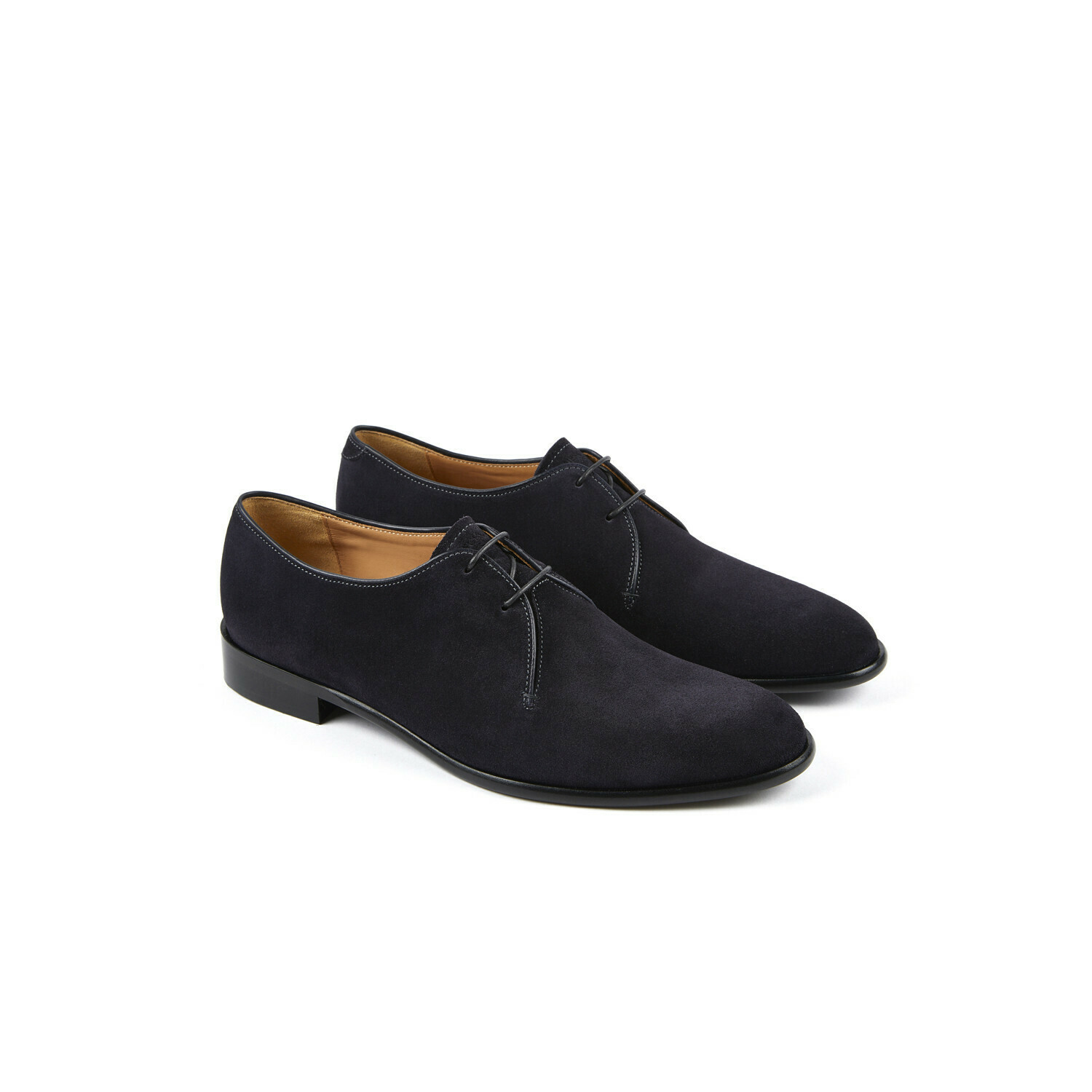 TREVISE Navy Hydrovelours Cuir P