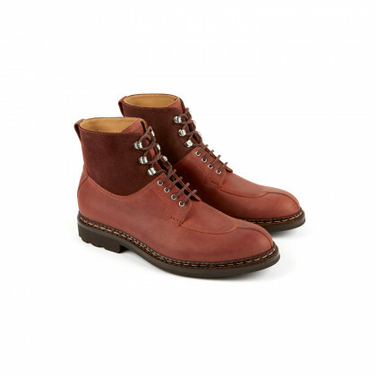 GINKGO Country/Hydrovelours Sienne/Burgundy Ravel
